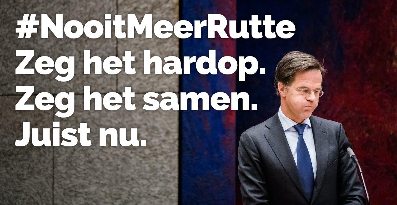 #NooitMeerRutte